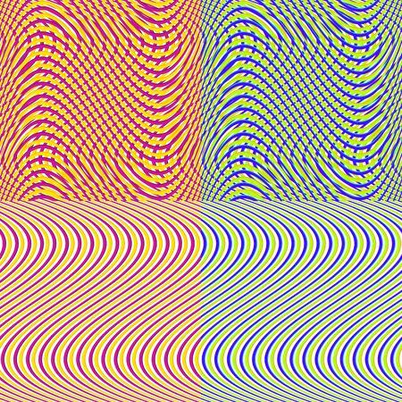 Set of seamless pattern of colored strips Illusztráció