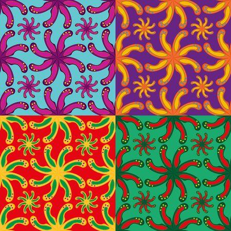 irregular shapes: Set of seamless pattern of abstract irregular shapes