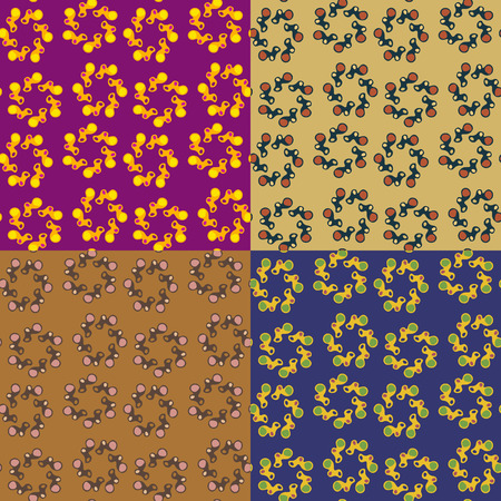 Set of seamless pattern of abstract irregular shapes