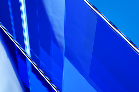 visualization: Abstract blue glass background 3d rendering of computer visualization Stock Photo
