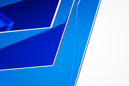 screen savers: Abstract blue glass background 3d rendering of computer visualization Stock Photo