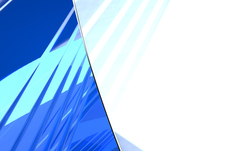 Abstract blue glass background 3d rendering of computer visualization Stock Photo