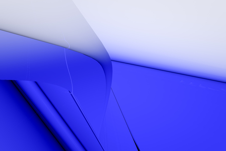 Abstract blue glass background 3d rendering of computer visualization Imagens
