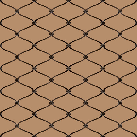 Vector seamless pattern mesh on a light brown background