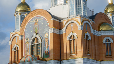 The facade of the new Orthodox Church in Kiev