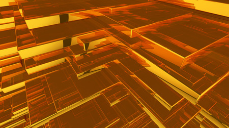 Abstract brown highlights, 3D computer rendering a brilliant generation of glass surface