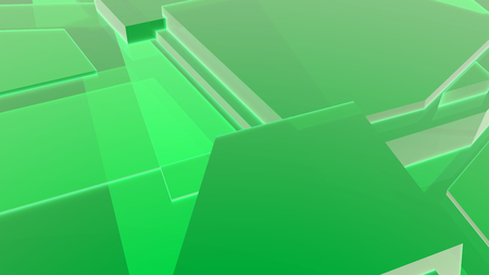 Green abstract geometric 3d render background
