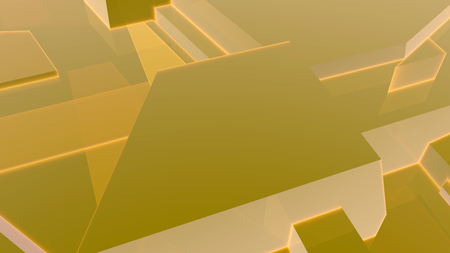 Yellow abstract geometric 3d render background
