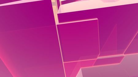 Red abstract geometric 3d render background