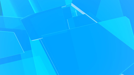 Blue abstract geometric 3d render background Stock Photo