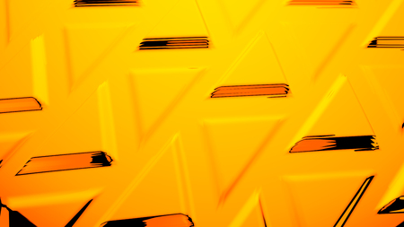 Abstract yellow geometric futuristic background 3d rendering computer simulation