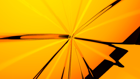 Abstract yellow futuristic background 3d rendering computer simulation Stock Photo