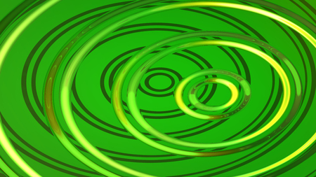 Abstract green highlights, 3D computer rendering a brilliant generation of glass surface