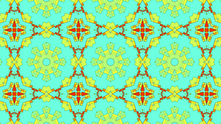 Artistic kaleidoscopic color pattern 3d rendering with gradient lighting effect Stock Photo