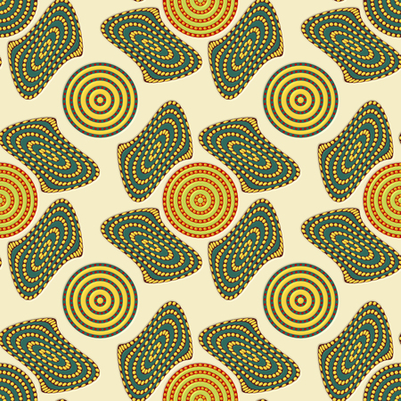 Seamless pattern with geometric shape elements 3d rendering