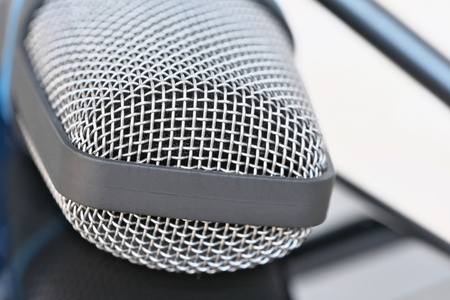 Condenser microphone for recording sound on a computer, tablet or other digital sound recorder close-up macro
