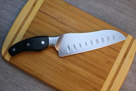 Kitchen knife on a cutting board
