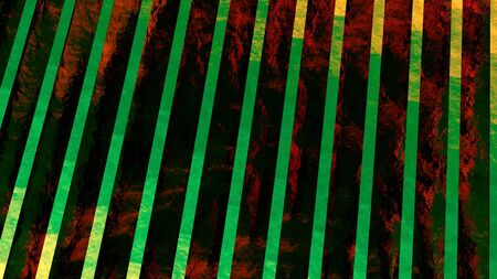 Abstract background, computer rendering, print cover in red colors with green stripes
