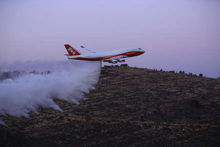 retardant: Super Tanker Firefighting aircraft in action