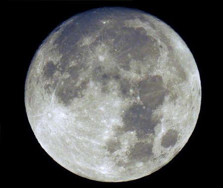 Full moon isolated on black. Stock Photo