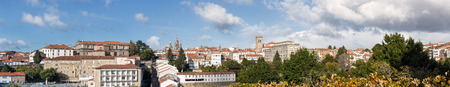 Santiago de Compostela ultra wide panoramic view in Galicia, Spain High resolution