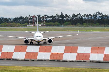 Airplane on Santiago de Compostela Airport