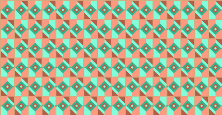 Geometric background vector illustration. Colorful Decorative graphic pattern. Seamless retro style background