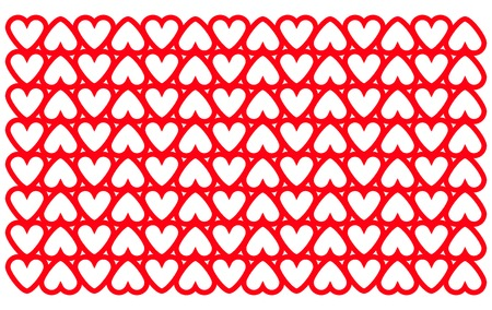 Geometric heart pattern. Seamless valentines background vector Illustration