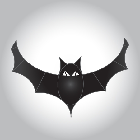 Halloween flying bat. Vector illustration Standard-Bild - 122435127