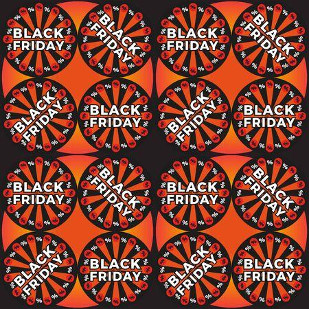 Black Friday Sale sign. Vector banner for shops, web.