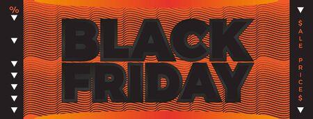 Black Friday banner. Vector banner for shops, web. Vector Illustration EPS10