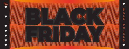 Black Friday banner. Vector banner for shops, web. Vector Illustration EPS10 Фото со стока - 130154090