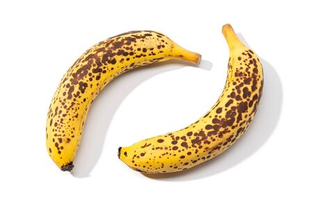 Spotted Banana isolated on white background