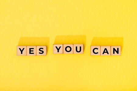 Yes you can message on wooden blocks. Motivational Words Quotes Concept Archivio Fotografico