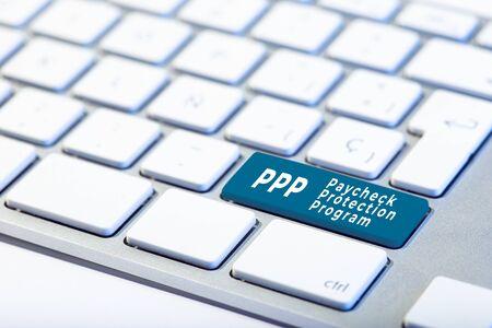 PPP Paycheck Protection Program concept. Inscription on Keyboard Key