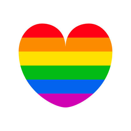 Rainbow Heart shape icon vector illustration. LGBTQ pride