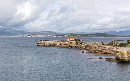 Seascape Punta Cabalo lighthouse, Illa de Arousa, Rias baixas, Galicia, Spain