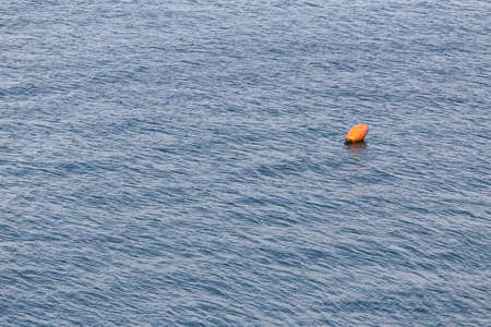Marine buoy in the sea background. Copy space