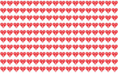 Geometric Heart shape background. Seamless pattern Vector illustration
