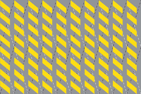Seamless pattern of spike geometric shape background with 2021 year trendy yellow and gray colors. Flat design Vector illustration