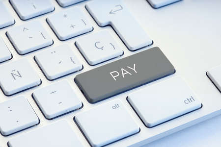 Pay Word on gray Keyboard Key