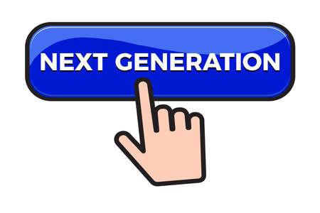 Next Generation button and finger click cursor. Web button Vector illustration Illusztráció