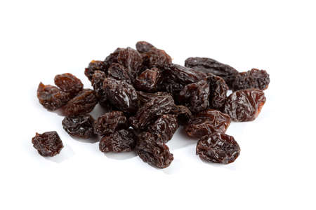 Raisins isolated on White Background. Dried grape