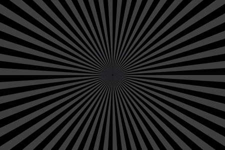 Black Sunburst Pattern Background. Ray star burst. Rays Radial geometric Vector Illustration Ilustrace
