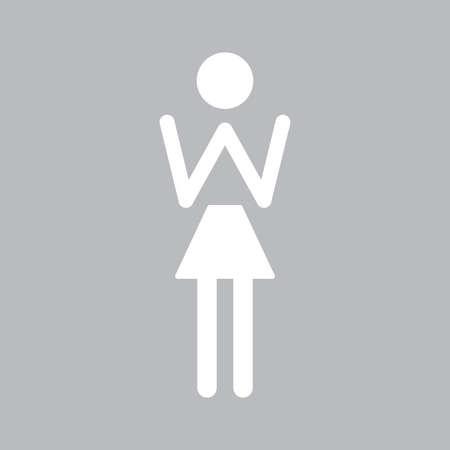 Modern female WC icon. Bathroom Sign. Flat vector illustration