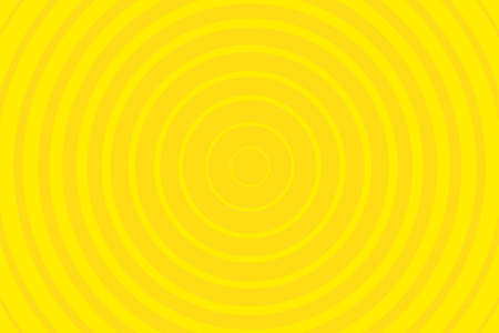 Yellow Radiating concentric Circle Pattern Background. Vibrant Radial geometric Vector Illustration 向量圖像