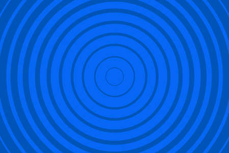 Blue Radiating concentric Circle Pattern Background. Vibrant Radial geometric Vector Illustration