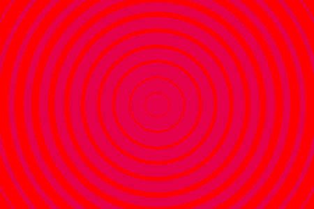 Red Radiating concentric Circle Pattern Background. Vibrant Radial geometric Vector Illustration