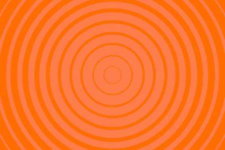 Orange Radiating concentric Circle Pattern Background. Vibrant Radial geometric Vector Illustration