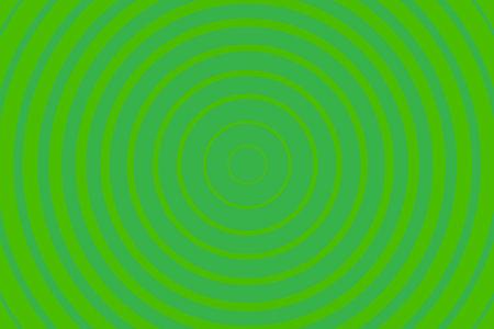 绿色辐射同心圆图案背景。充满活力的径向几何传染媒介例证例证例证